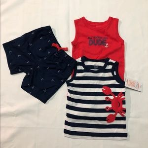 12M baby boy Carter's 3 piece outfit